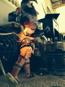 collaborative lamp doll with Hollyandra Drake