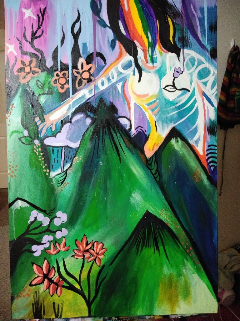 Mountain Goddess Protector Painting